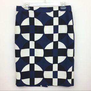 J. Crew No. 2 pencil geometric skirt size 6